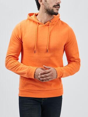 Sweat a capuche orange homme