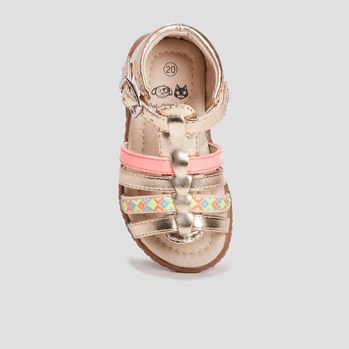 Sandales bébé fille couleur or