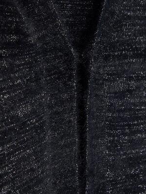 Gilet chine avec motif abeille noir fille