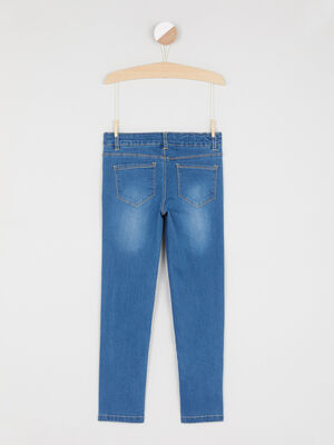 Jean coupe slim coton melange denim stone fille