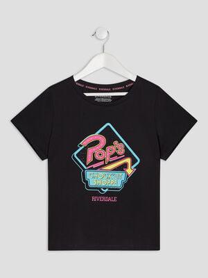 T shirt Riverdale noir fille