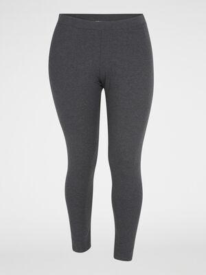Legging long coton majoritaire gris fonce femme