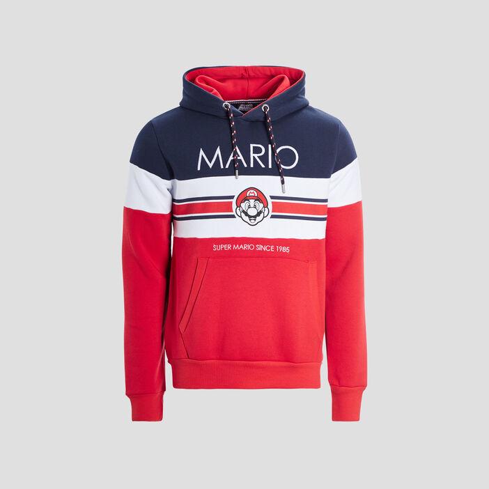 Sweat à capuche Mario homme multicolore