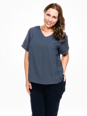 T shirt zippe grande taille multicolore femme
