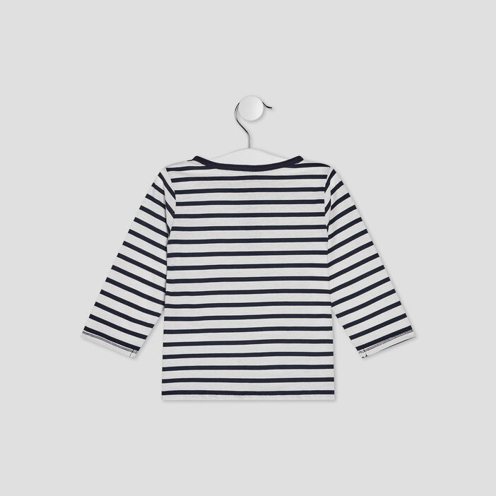 T-shirt Pat et Ripaton bébé garçon bleu marine