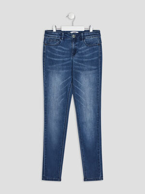 Jeans skinny push up denim brut fille