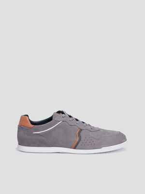 Sneakers a lacets gris homme