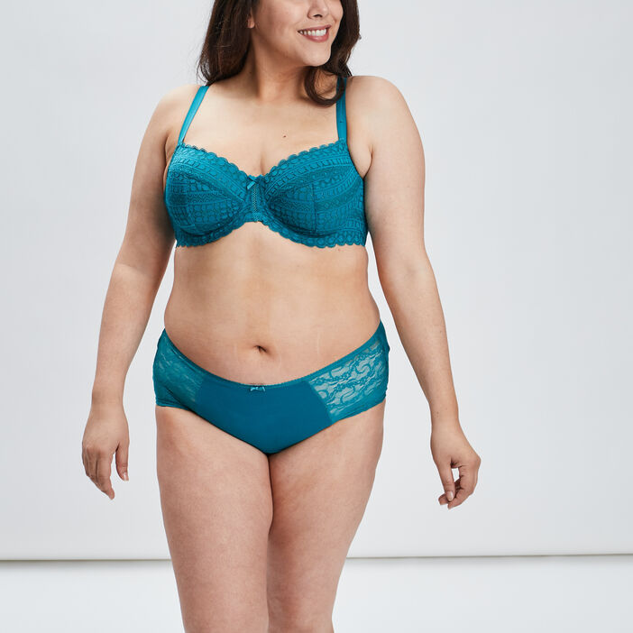 Soutien-gorge emboîtant femme grande taille bleu turquoise