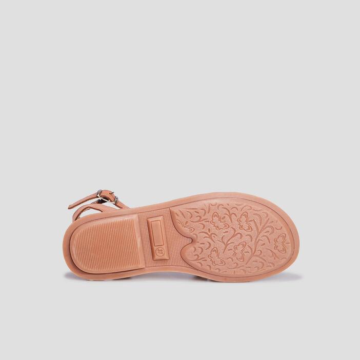 Sandales en cuir fille vert