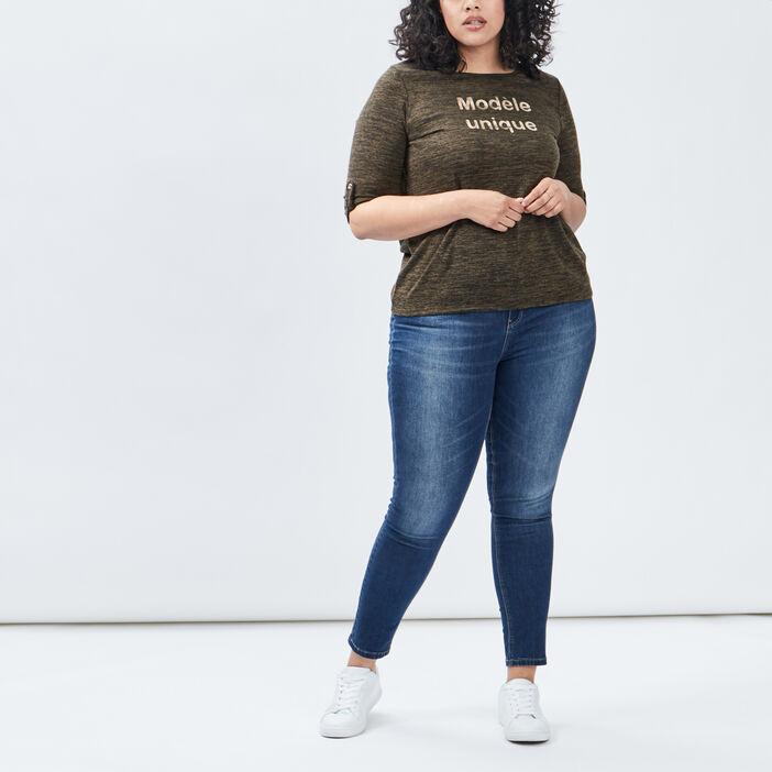 T-shirt femme grande taille vert kaki