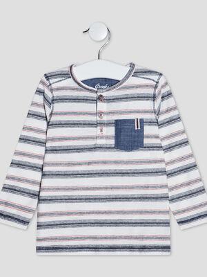 T shirt manches longues ecru bebeg