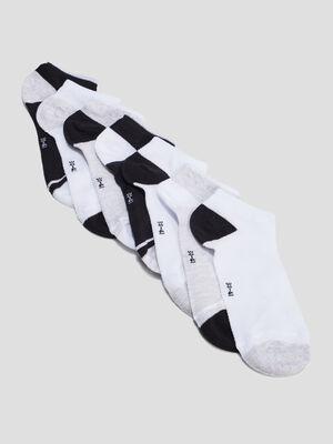Lot 7 paires chaussettes gris femme