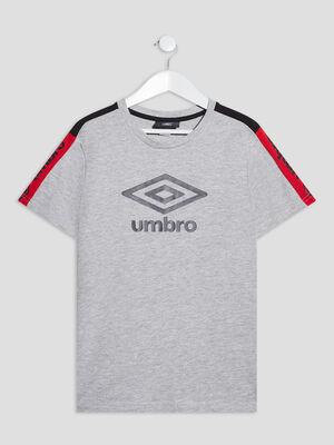 T shirt manches courtes Umbro gris garcon