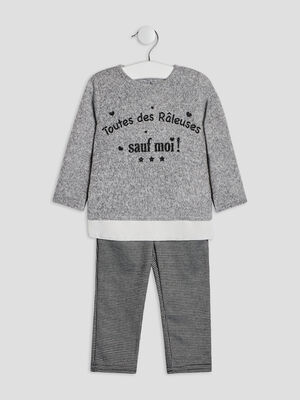 Ensemble 2 pieces gris bebef