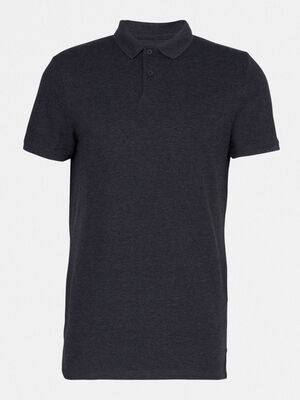 Polo manches courtes gris fonce homme