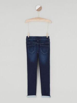 Jean skinny coton majoritaire denim brut fille