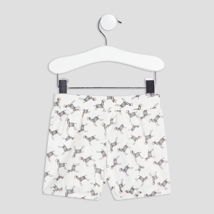 Lot 2 shorts droits bébé fille rose