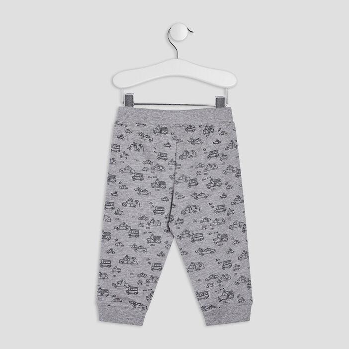 Pantalon jogging droit bébé garçon gris