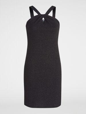 Robe courte sans manches noir femme