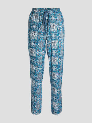 Pantalon de pyjama bleu femme