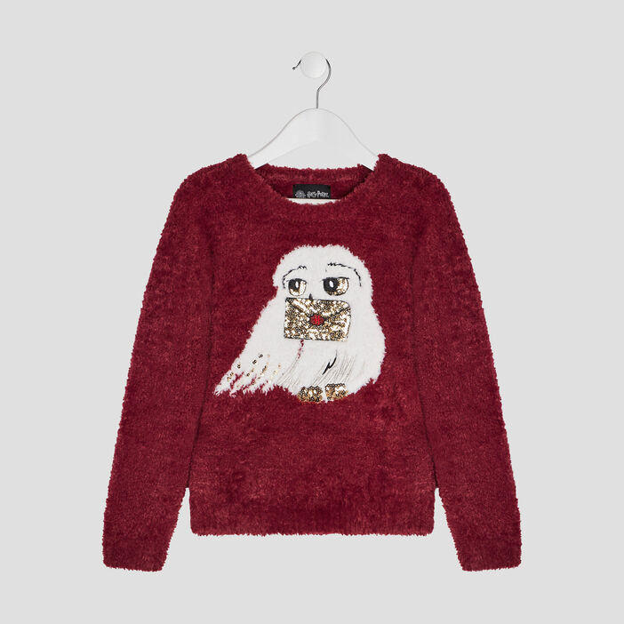 Pull Harry Potter fille bordeaux