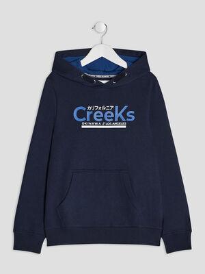 Sweat a capuche Creeks bleu marine garcon