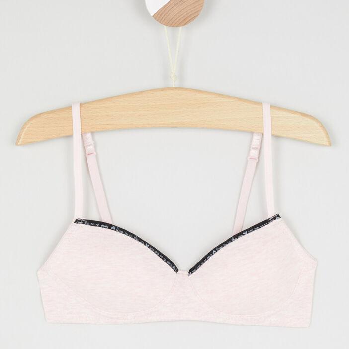 Soutien-gorge avec bord imprimé fille rose clair