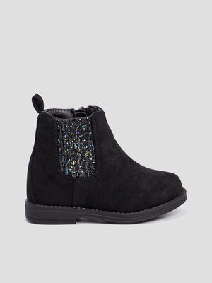 Bottines chelsea zippees noir bebef