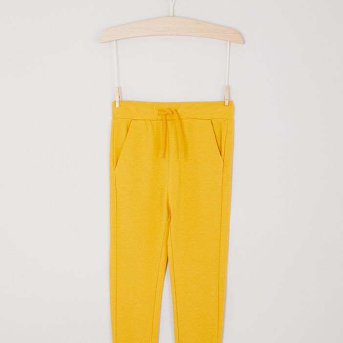 Jogging taille à coulisse garçon jaune moutarde
