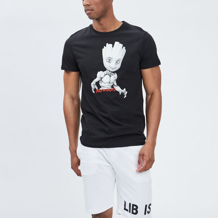 T-shirt manches courtes Groot homme noir