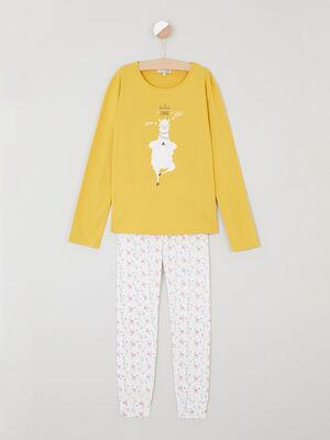 Pyjama jaune moutarde fille