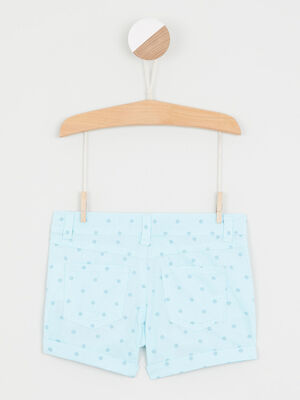 Short a rayures bleu turquoise fille