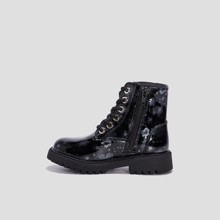 Bottines vernies fille noir