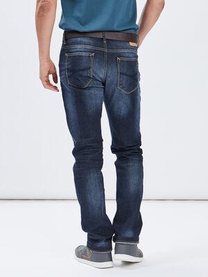 Jeans regular ceinture denim stone homme