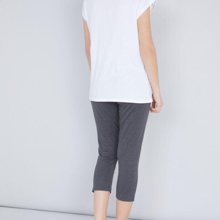 Pyjama TCHIP T-shirt et corsaire femme ecru