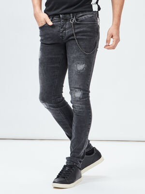 Jeans skinny stretch Liberto denim snow noir homme