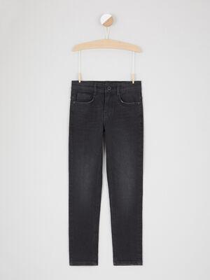 Jean straight poches avec rivets noir garcon