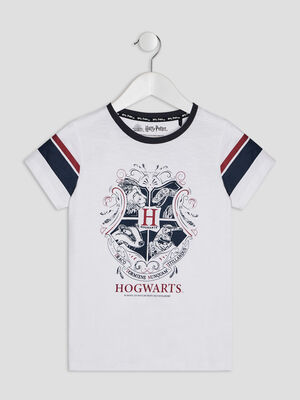 T shirt Harry Potter blanc fille