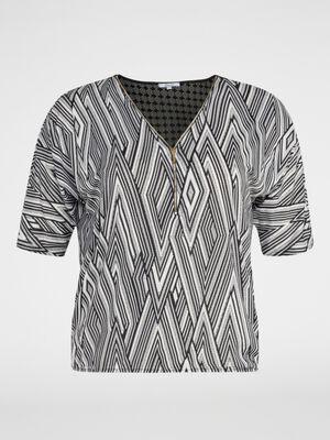 T shirt manches courtes noir femm