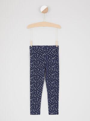 Legging imprime taille extensible bleu marine fille