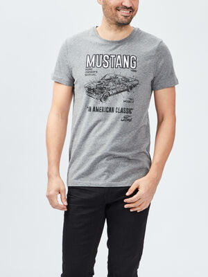 T shirt manches courtes Ford gris fonce homme