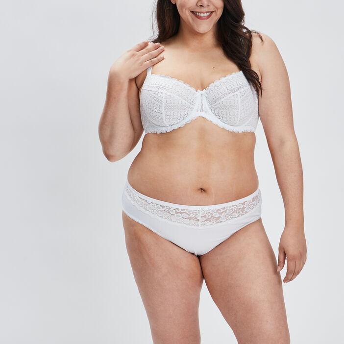 Soutien-gorge emboîtant femme grande taille blanc