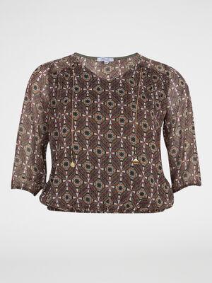 T shirt zippe grande taille multicolore femmegt