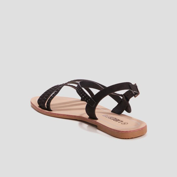 Sandales avec strass Liberto fille noir