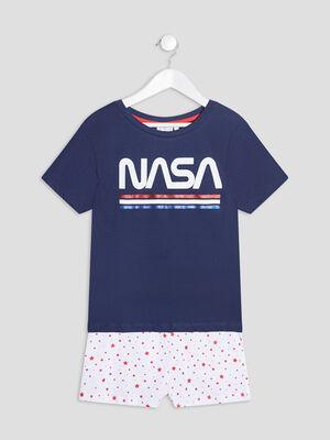 Ensemble pyjama 2 pieces NASA bleu marine fille