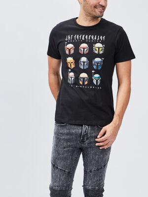 T shirt The Mandalorian noir homme