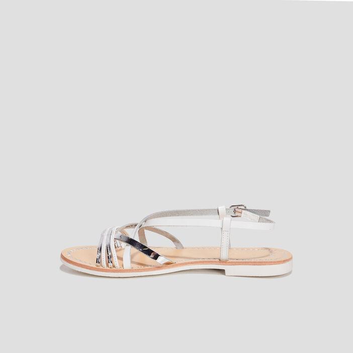 Sandales en cuir femme blanc