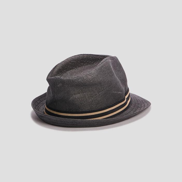 Chapeau trilby tressé homme gris foncé
