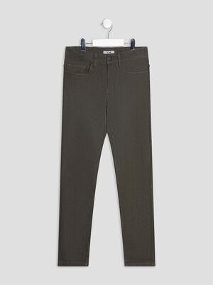 Pantalon slim vert kaki garcon
