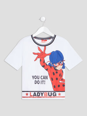T shirt Miraculous Ladybug blanc fille